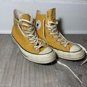 Lightly used yellow Chuck 70 converse high tops